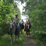 Phillip Holden etal on the trail w Best of America By Horseback June 2013