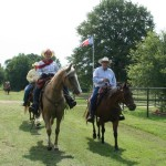 Tom Seay and Nancy K just after entering Red River County TX on the way to lunch feast in Avery June 2013